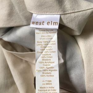 West Elm Bedding - W E S T  E L M // Chevron Pillow Cover